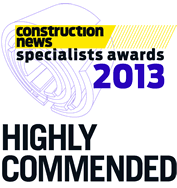 Construction news specialists awards 2013 - Highly Commended